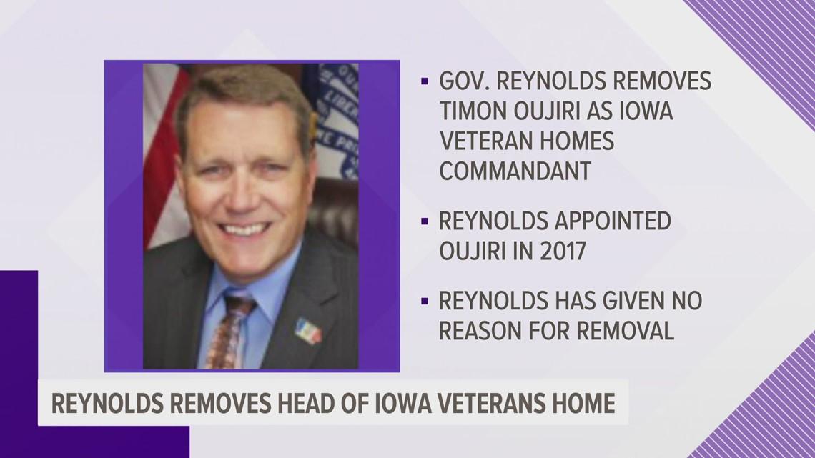 Gov. Reynolds removes Iowa Veterans Home leader