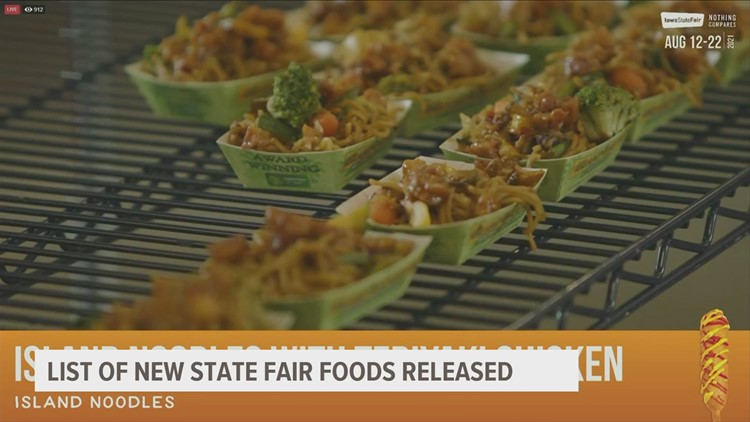 Over 60 new foods announced for Iowa State Fair 2021