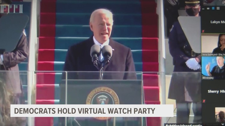 Democrats take time to celebrate Biden and Harris inauguration from a distance
