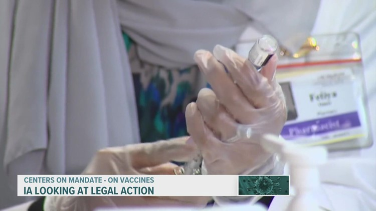 Gov. Reynolds says Iowa is considering legal action against federal vaccine mandate