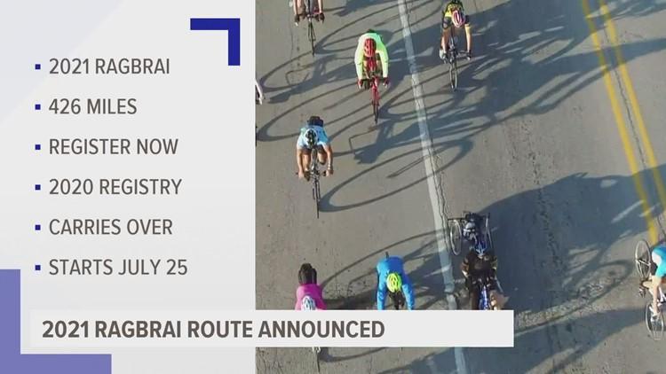 RAGBRAI announces 2021 route