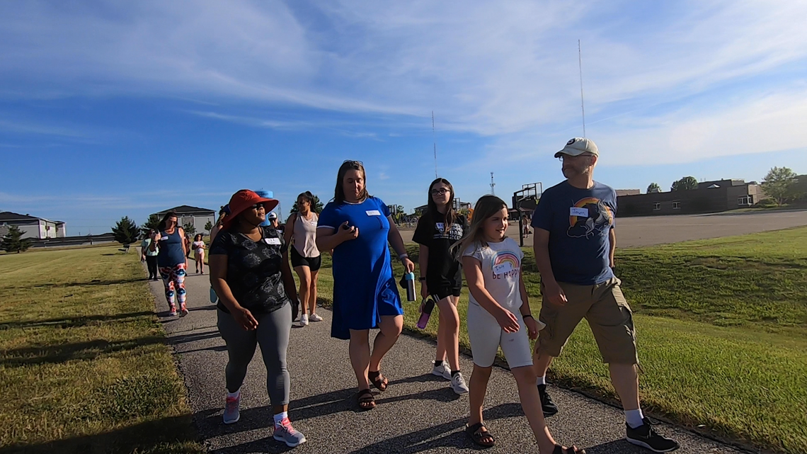 Johnston Parents for Equity and Anti-Racism hold walk, discuss future goals