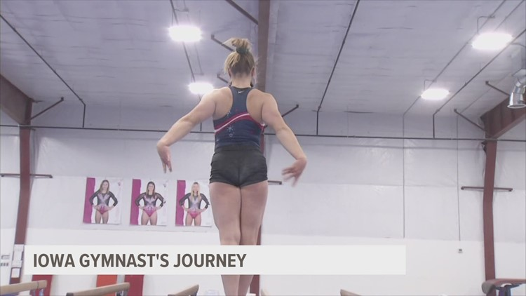 Gymnast shows her grit, commitment to sport after losing training facility to COVID