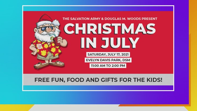It's Christmas in July this Saturday with the Salvation Army!