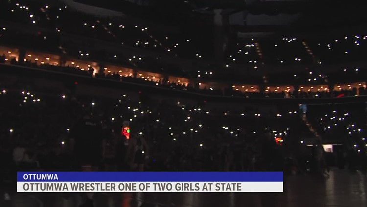 Ottumwa wrestler one of two girls wrestling in the state tournament