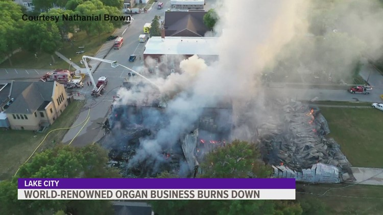 Massive flames engulf pipe organ business in western Iowa