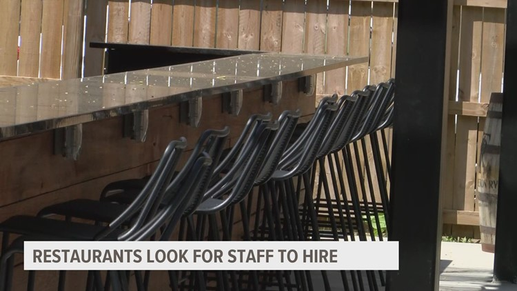 Restaurant using $500 sign-on bonus to attract new hires amid staffing shortages