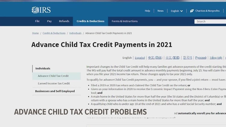 Child tax credit problems? You're not alone