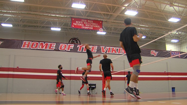 Grand View Vikings showing they are a hotbed for men's volleyball as they prepare for NAIA National Championship
