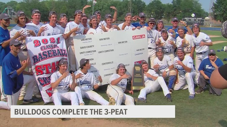 Van Meter baseball completes the 3-peat for Class 2A crown, St. Albert wins Class 1A title