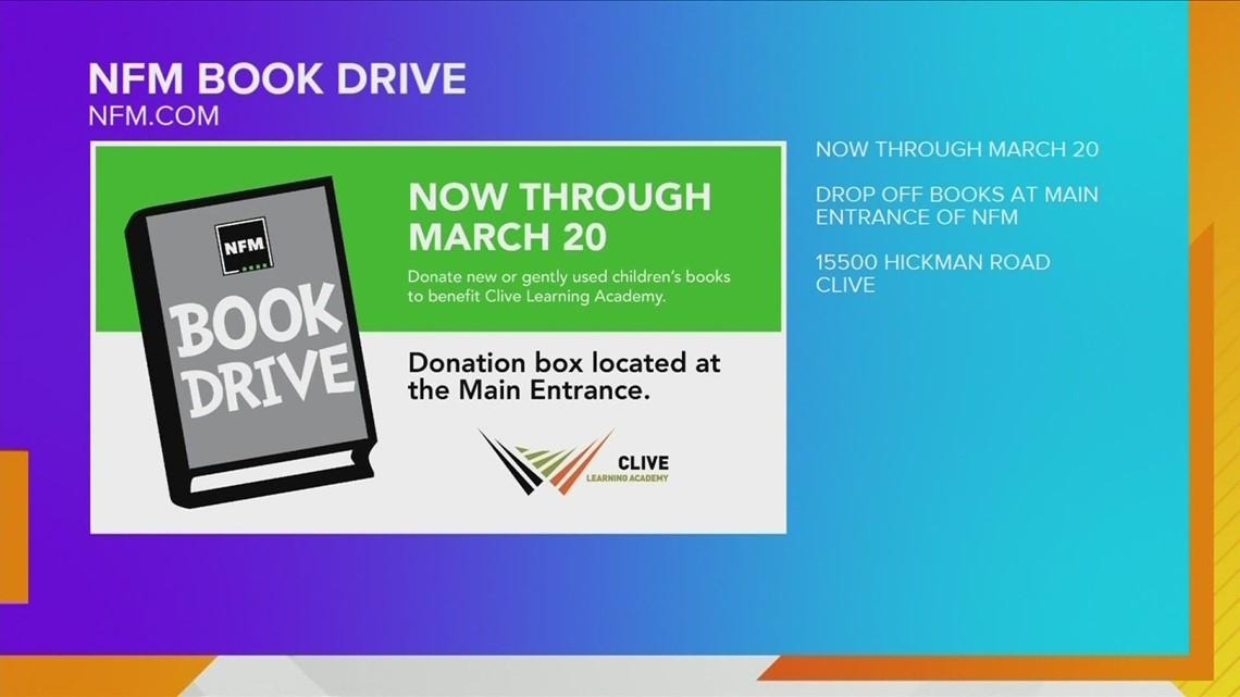 Nebraska Furniture Mart annual book drive now through March 20th