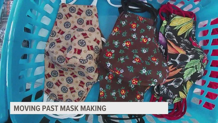 Two metro businesses moving past mask making as COVID-19 rates drop