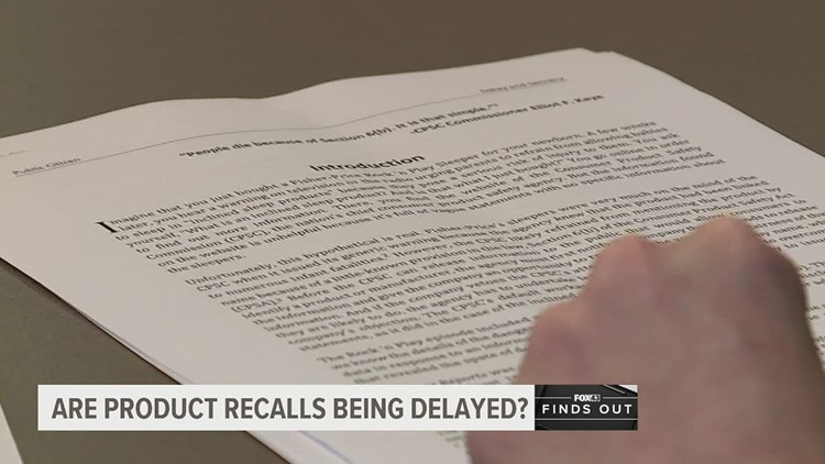 New bill could speed up the product recall process | FOX43 Finds Out