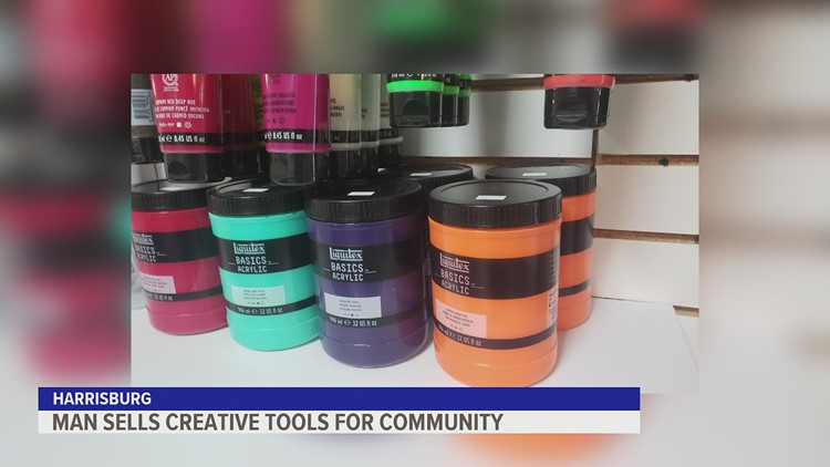 Man fills the need for creatives in Harrisburg by selling art supplies