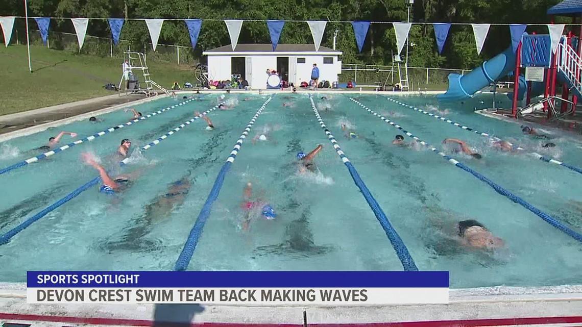 Devon Crest Swim Team back making waves