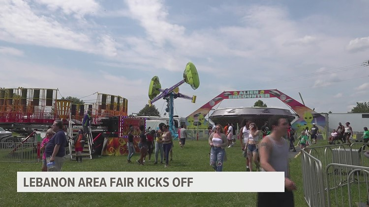 First day at the Lebanon Area Fair
