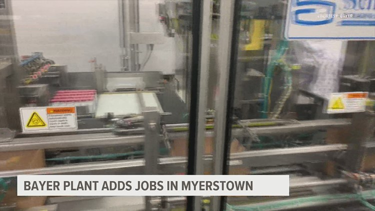 Bayer manufacturing facility in Myerstown generates more than 40 new jobs