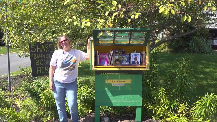 York County woman adds the books banned by the Central York School Board to her free little library