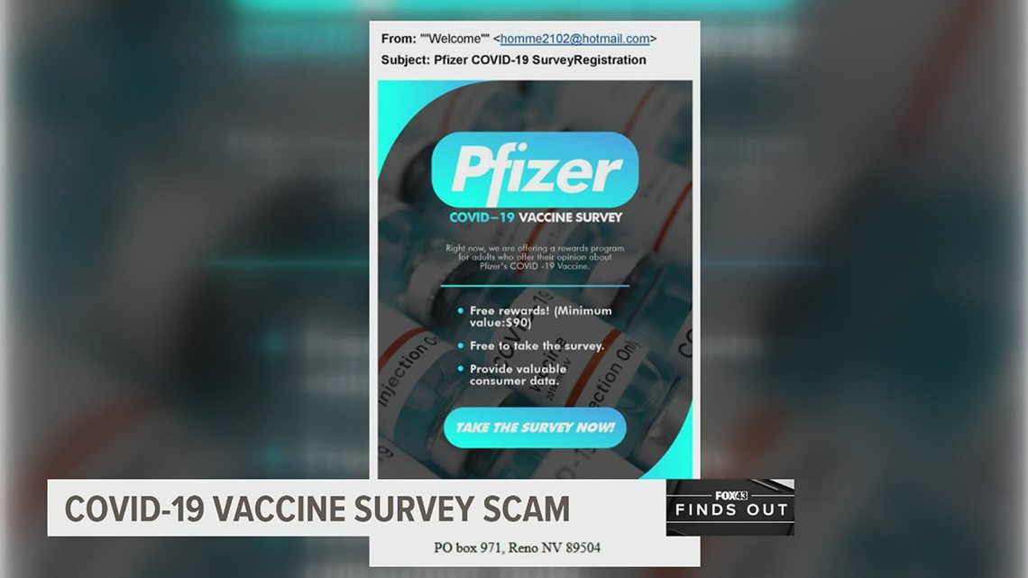 This COVID-19 vaccine survey is a scam | FOX43 Finds Out