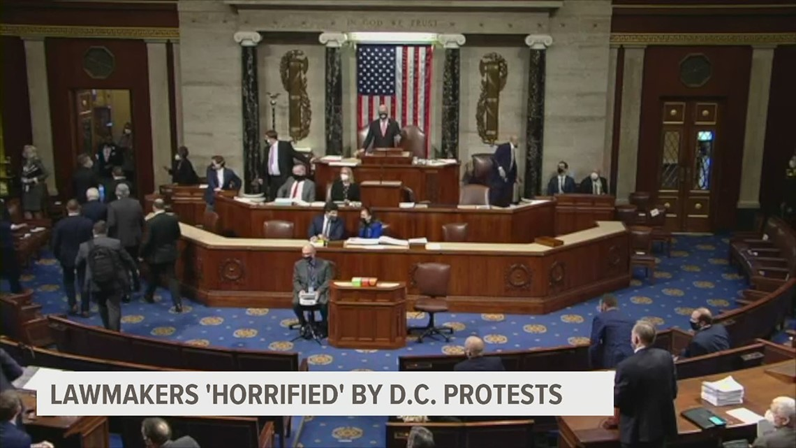 Congressional lawmakers 'horrifed' by protests at the nation's capital