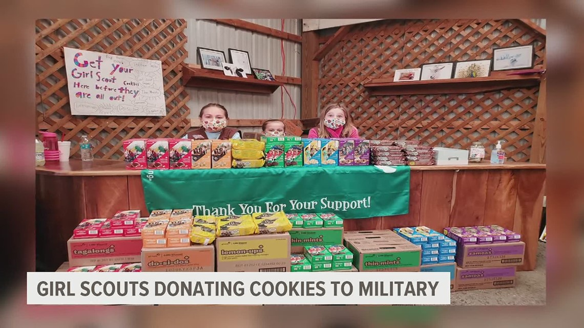 Girl Scouts in the Heart of Pennsylvania partners with  Operation Gratitude to give cookies to military members