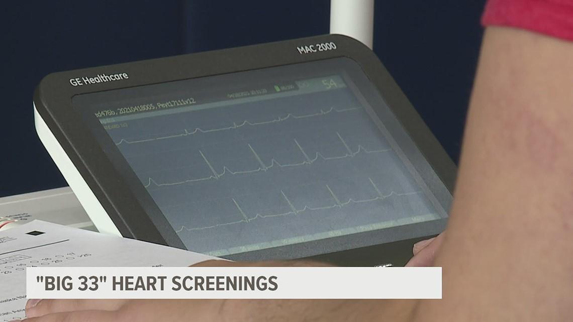 Big 33 heart screenings