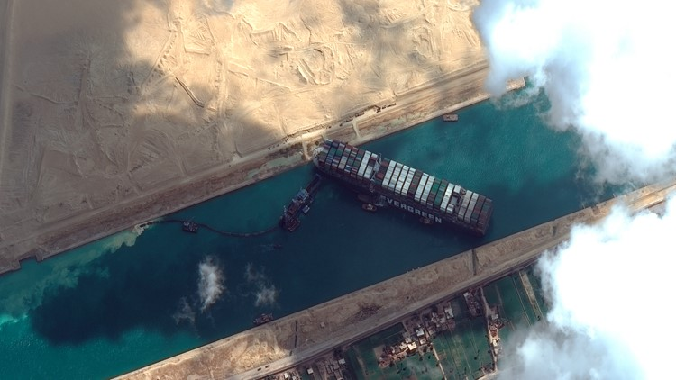 Suez Canal blockage may cause a shortage of many products worldwide
