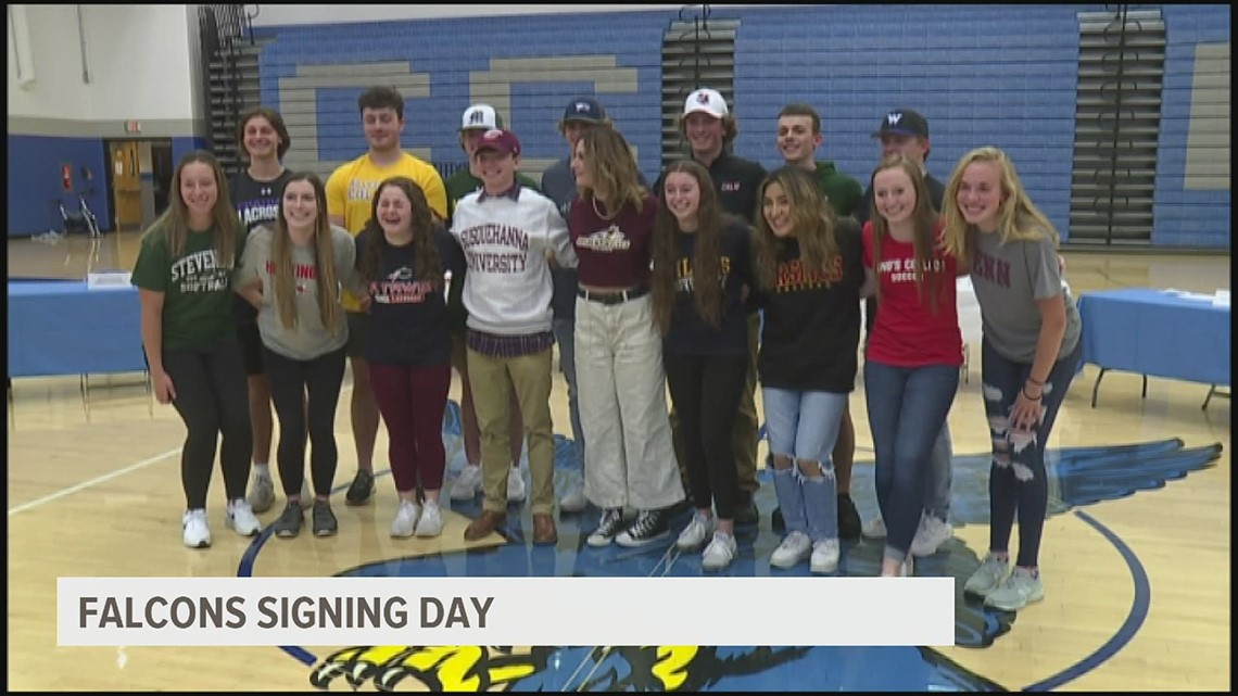 Cedar Crest holds signing ceremony for 16 student athletes