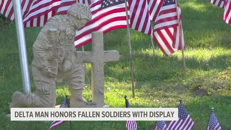 73 year old man from York County creates Memorial Day tribute for those who have lost their lives on the line of duty