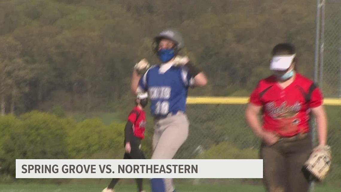 Spring Grove fends off Northeastern rally, 8-5