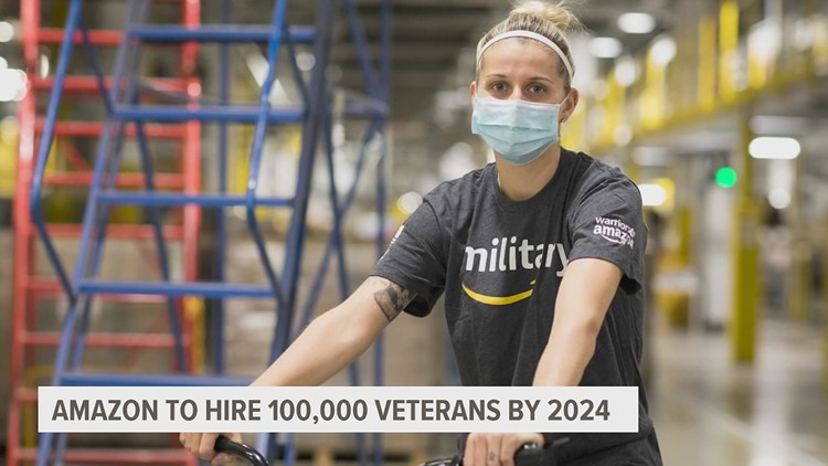 Amazon aims to hire 100,000 more veterans and military spouses