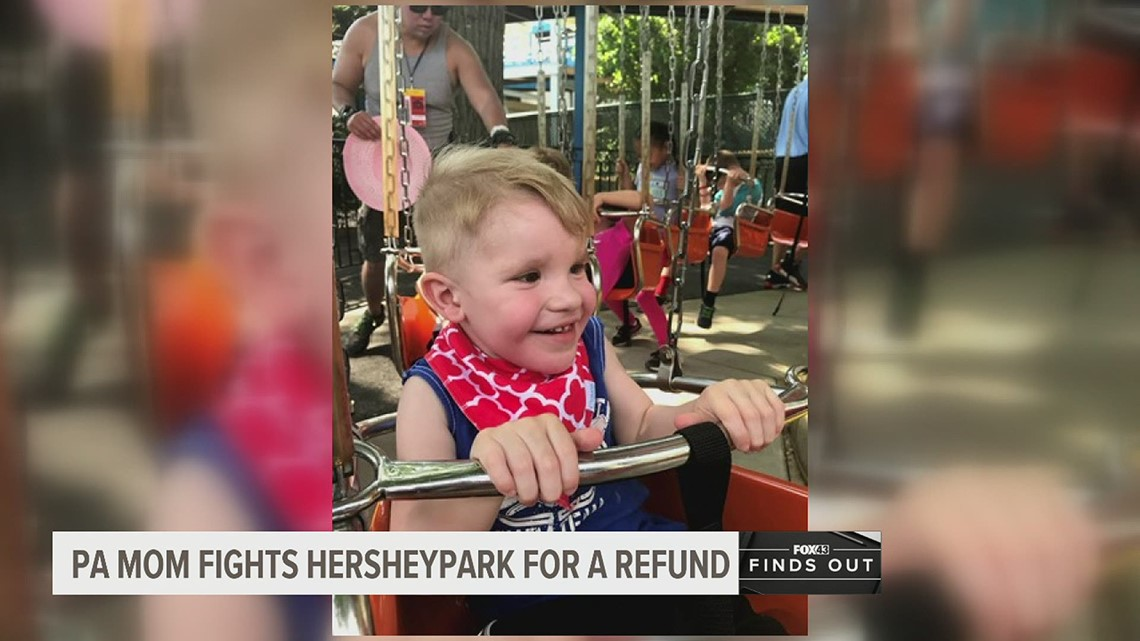 Pa. mom of a son with special needs fights Hersheypark for a refund over its mask policy | FOX43 Finds Out