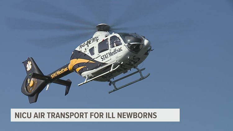 Helicopterteam flies baby to UPMC Harrisburg NICU for extra care