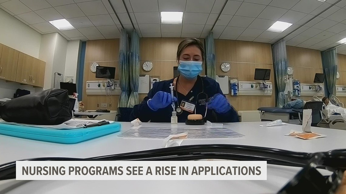 Some nursing schools in PA are seeing more people join their programs, however the overall numbers remain lower than previous years