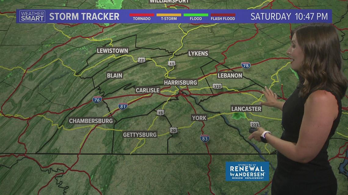 Saturday evening forecast 7/24/21