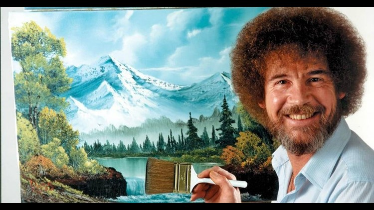 Bob Ross' paintings finally being recognized in an