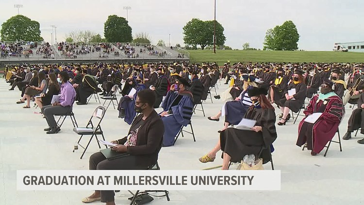 Millersville class of 2020 undergrads finally get the chance to walk across the stage