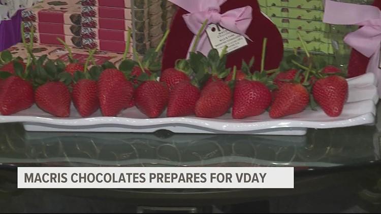 Macris Chocolates in Cumberland County prepares for Valentine's Day rush