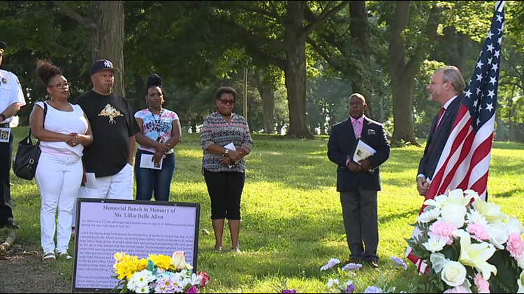 Vigil honors Lillie Belle Allen, who was killed during 1969 York Race Riots