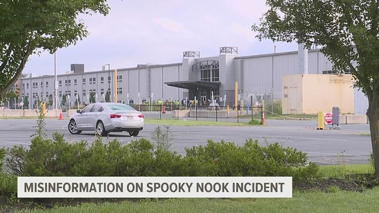 Como la información errónea sobre el incidente en Spooky Nook se propago rápidamente en las redes sociales.