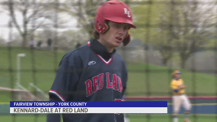Benny Montgomery splashes one off the school as Red Land downs Kennard-Dale