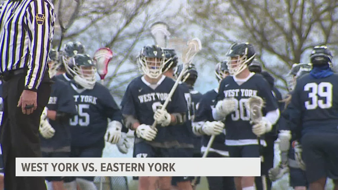 West York boys lacrosse bests Eastern York, 15-8