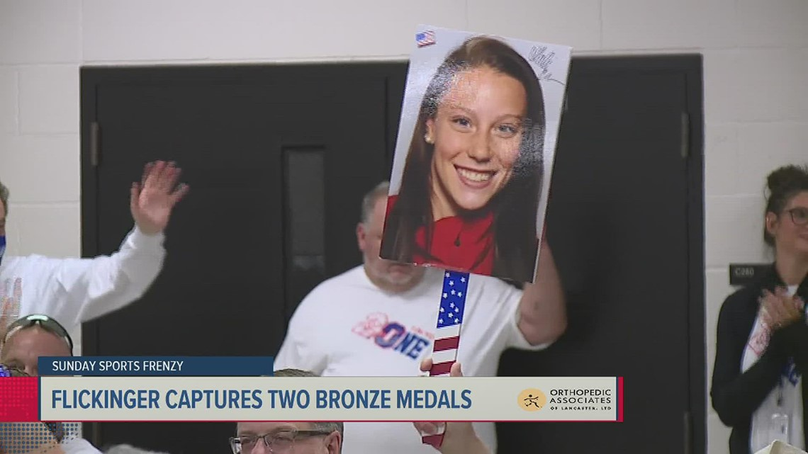 Hali Flickinger's suitcase will be heavier; coming home with two bronze medals
