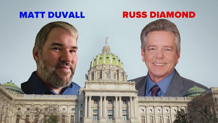 PA House District 102: Russ Diamond (R) vs. Matt Duvall (D)
