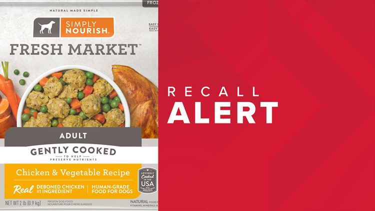 51,000 packages of Simply Nourish frozen dog food recalled due to elevated levels of Vitamin D