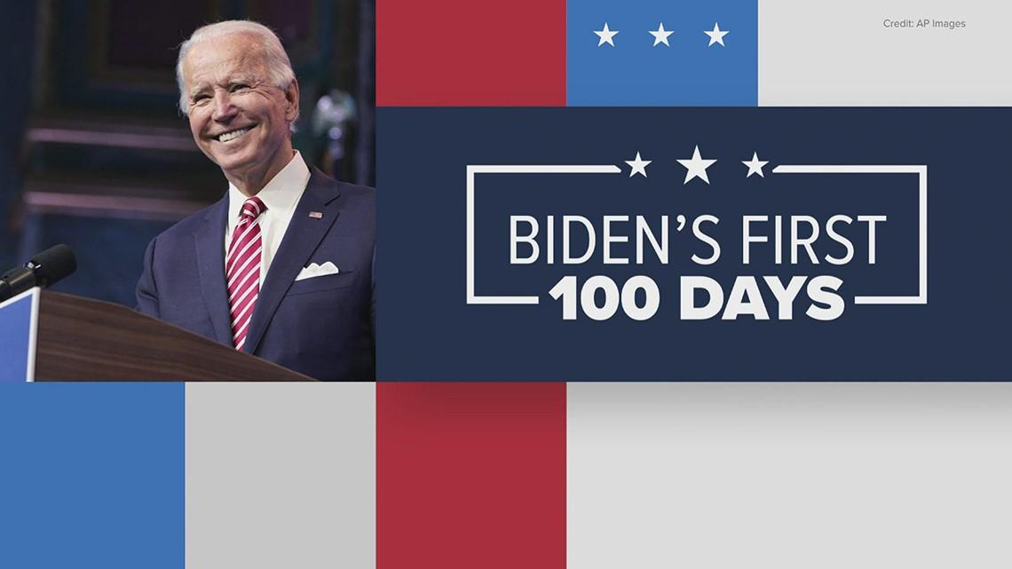 Biden's first 100 days, where he stands