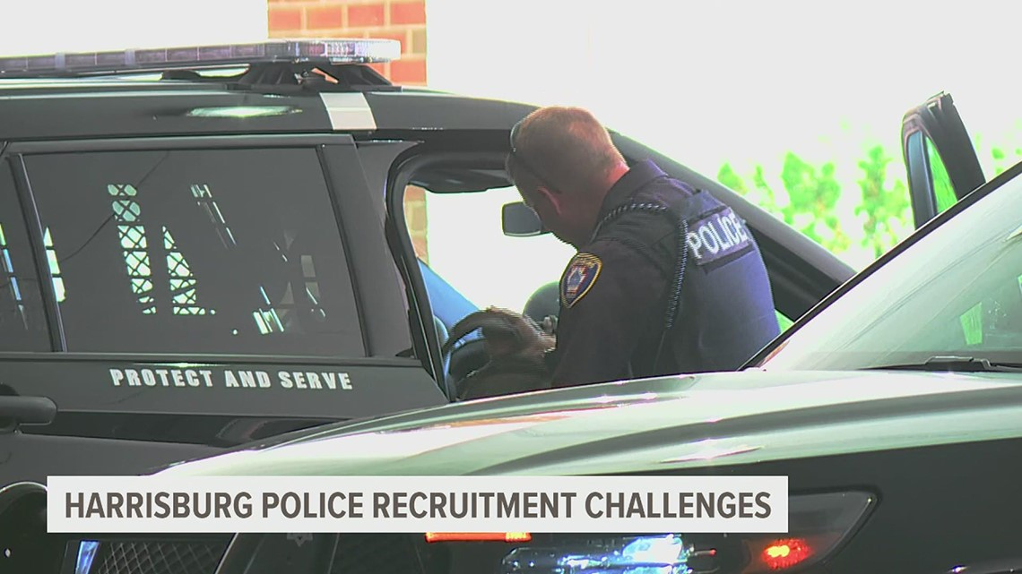 Harrisburg police are seeing low rates of applicants, and current officers are leaving the force