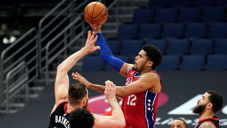 Harris, Embiid lead 76ers over Raptors 109-102