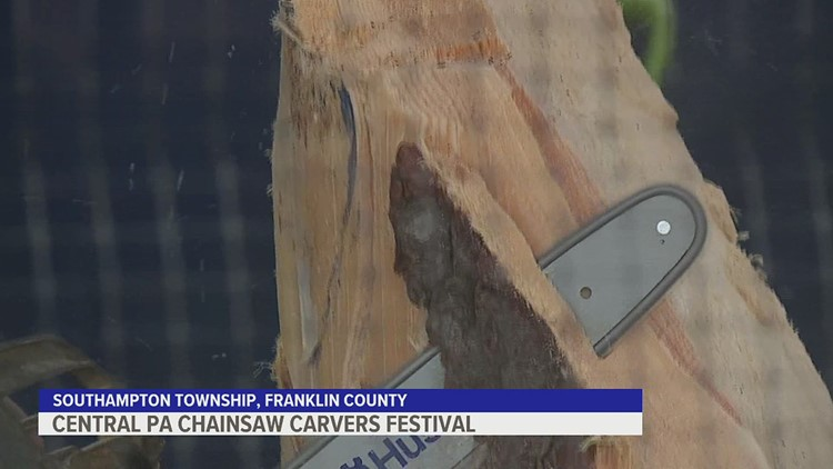 Artists rev up their engines at Shippensburg Fairgrounds for Central PA Chainsaw Carvers Festival