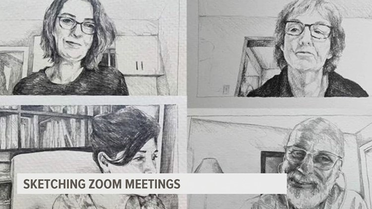 Millersville professor takes zoom meetings and turns them into sketches